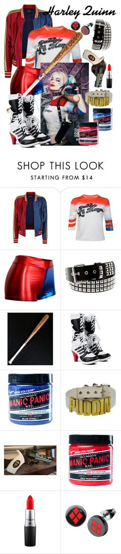 """""""Harley Quinn"""" by inside-report ❤ liked on Polyvore featuring Manic Panic NYC and MAC Cosmetics"""