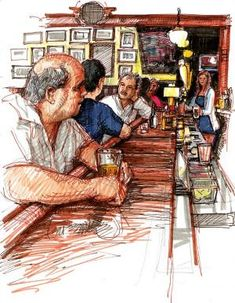 Bar Drawings | Stephen Gardner