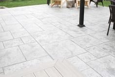Our Stamped Concrete Patio Makeover