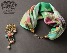 мастер-класс Scarf Necklace, Fabric Necklace, Scarf Jewelry, Fabric Jewelry, Fashion Necklace, Fashion Rings, Beaded Necklace, Fashion Jewelry, Jewelry Ads