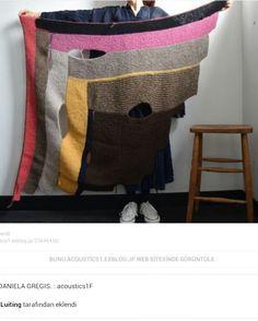 Color block shawl garter stitch