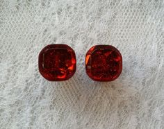 Red Sparkle Glitter Plugs Gauges by PorcupineSpines, $18.00