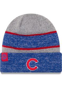 New Era Chicago Cubs Grey 2017 Sport Knit Hat Cubs Merchandise 74b1e661668a