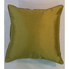 Faux Silk One Colour Design Cushion Cover - Golden Olive (43cm x 43cm) - Mode Alive - Home Decor Heaven
