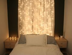 diy sheer curtain with lights - Google Search