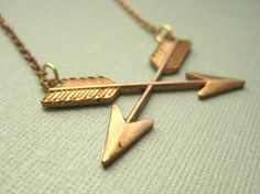 Vintage arrow necklace.