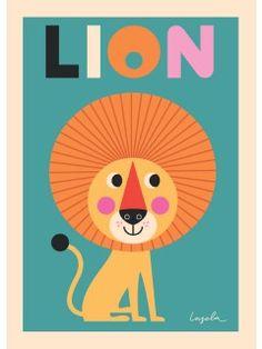 Ingela Arrhenius: Lion plakat (50 x 70 cm)