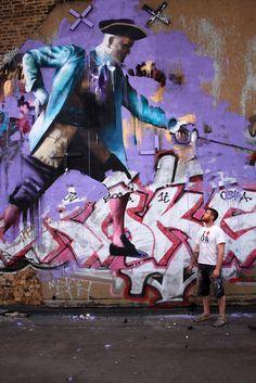 Irish painter and street artist Conor Harrington.