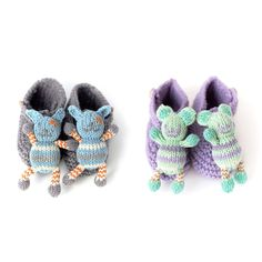 Organic cotton knit Rattle Booties | UncommonGoods