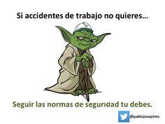 El Maestro #Yoda enseñando #seguridad y salud en el trabajo