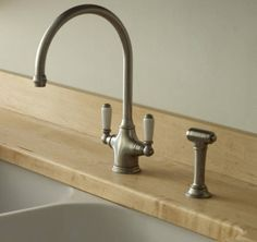 Perrin U0026 Rowe Phoenician Contemporary Deck Mounted Mixer Kitchen Tap In  Pewter With Lever Handles And