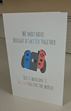 I made this Valentine's card for my boyfriend because we recently bought a Switch together and he loved it! I thought maybe you guys would like it.