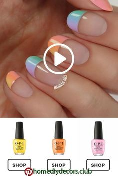 How to get a pastel ombre manicure darbysmart beauty nailpolish nailart nai Nail Lacquer, Nail Polish, Nail Nail, Nail Art Designs, Nagellack Trends, Nail Design Video, Nail Art Videos, Diy Videos, Super Nails
