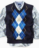 Plaid button-up and argyle sweater vest. Sweater Vest Outfit, Argyle Sweater Vest, Vest Outfits, Casual Outfits, Men Sweater, Fashion Outfits, Casual Clothes, Toddler Cardigan, Toddler Vest