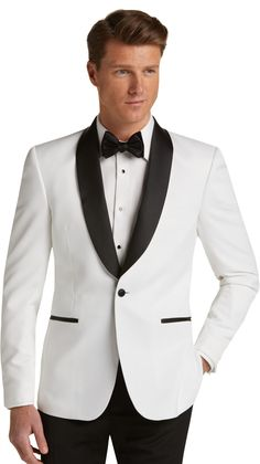 Toping Fine Mens One-Button Solid Modern-Fit Blazer Suit Jacket