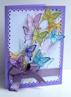 Card for any occasion - All essential products for this project can be found on Crafting.co.uk - for all your crafting needs. - butterfly card