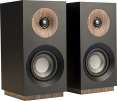Shop Jamo Studio 8 Passive Bookshelf Speakers (Pair) Black at Best Buy. Jamo Speakers, Home Audio Speakers, Diy Speakers, Hifi Audio, Studio Speakers, Black Bookshelf, Bookshelves, Speaker Shelves, Wooden Speakers