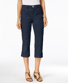 Style & Co. Cropped Cargo Pants, Only at Macy's