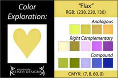 Eva Maria Keiser Designs: Explore Color:  Flax