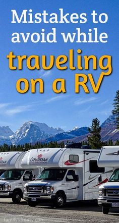 Mistakes to avoid while rv traveling rv traveling tips rv traveling with kids RV Tailgate Life RVing and Tailgating RV Inspiration Tips and Hacks for Campers Motorhomes and Travel Trailers Camping Hacks, Rv Camping Checklist, Camping Essentials, Rv Hacks, Camping Meals, Life Hacks, Rv Travel, Packing Tips For Travel, Travel Guides