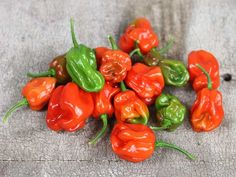 """Arroz Con Pollo Pepper.  80 days. Originated in eastern Cuba. Another Caribbean """"seasoning pepper!"""" Looks like a habanero, but sweet!"""