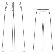 Burda 2013/10 [126] - Le pantalon est sobre et décontracté, avec une taille montée classique et une forme de jambes évasées. T34-44