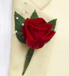 Infinite Rose Red Boutonniere