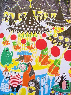 'Who Will Comfort Toffle?' by Finnish illustrator and writer Tove Jansson (translated by Kingsley Hart), published by Schildts, 1960 Tove Jansson, Mary Blair, Children's Book Illustration, Bunt, Illustrations Posters, Book Art, Design Art, Images, Drawings