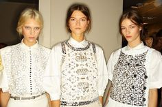 Modern embroideries and embellishments were the highlight at Tomas Maier's latest collection for Bottega #Veneta