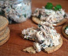 Peppered Mackerel and Lemon Pâté: 90 Kcals Per Serving Fish Dishes, Lemon, Stuffed Peppers, Vegetables, Recipes, Food, Stuffed Pepper, Recipies, Essen