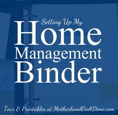 making a home management binder