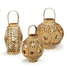 Lanterne en bambou Naturel - Martha - Les photophores - Bougeoirs et photophores - Toute la déco - Décoration d'intérieur - Alinéa