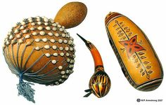 Musical gourds from Africa and India