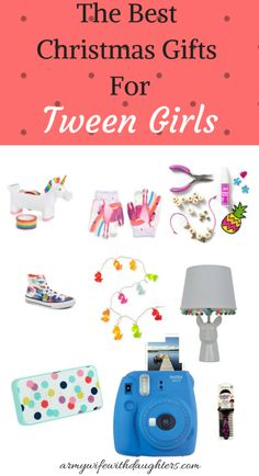 Christmas gift ideas for tween girls. #christmas #christmasgifts #tweens #girl #gift