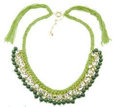 2013 nuevos estilos de moda collar de cuentas de cristal collar