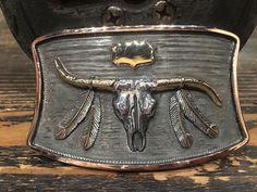 Western Belt Buckles, Western Belts, Charro, Bolo Tie, Gold Accents, Westerns, Cuff Bracelets, Recycling, Vintage Items