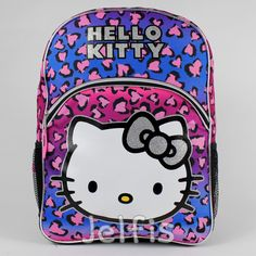 """Jelfis.com - Sanrio Hello Kitty Heart Leopard 16"""" Large School Backpack for Girls, $17.99 (http://www.jelfis.com/sanrio-hello-kitty-heart-leopard-16-large-school-backpack-for-girls/?page_context=category"""