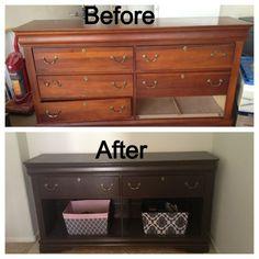 #repurposed #dresser | #DIY