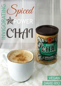 Super Spiced Chia Tea Latte:   1 1/2 cups cartoned coconut milk (I use Silk Vanilla) 3 Tbsp. David Rio Power Chai mix 1/4 tsp. vanilla extract pinch of cayenne pepper