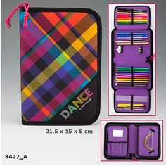 A very stylish Dance pencil case from the ever popular Top Model range.  Crammed full of the usual Top Model goodies, felt tips, pencils, erasers, rulers and more!