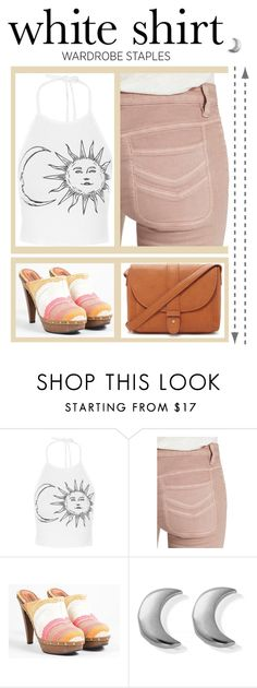 """""""White Shirt"""" by tmgoodwi ❤ liked on Polyvore featuring Free People, Missoni, ChloBo and Forever 21"""