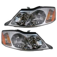 New Pair Set Headlight Headlamp Assembly DOT Stamped 00-04 Toyota Avalon #AftermarketReplacement