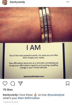 56b7f9f4d0b09 I AM Bracelets | I AM Affirmation Bracelets | Bracelets, I am ...