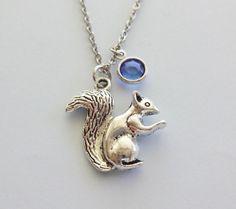 Squirrel Necklace Animal Woodland BFF Friend by BelieveInGoodKarma