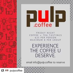 GUYS!! Looking for a great date night or just night out with friends?  DO THIS! _____ We had the pleasure of hanging with @pulpcoffee last week and it was phenomenal!  Look at the info below and book your date!  We Teach. By reservations only you can experience the behind the scenes of Pulp Coffee Roasters and experience the coffee u deserve. These Tastings are back by popular demand. Email info@pulp.coffee to make your reservations. #friday #sanantonio #satx #safoodies #alamocity #coffee…