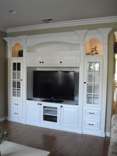 Entertainment Center Design.  I would love this someday!