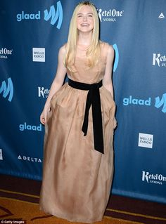 elle fanning awared photos | Heaven sent! Elle Fanning attends the star-studded 2013 GLAAD Awards ...