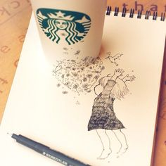 Jump♡ #rakugaking #starbucks - @tokomo   Webstagram
