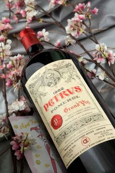 1982 Chateau Petrus. Brian still has the bear he calls Petrus. He won't remember, but he tasted the '71 when he was a toddler.