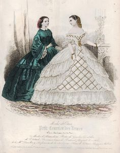 1860 -- does the dress on the left look green or blue to you?